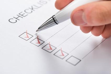 Gewächshaus Test Check-Liste